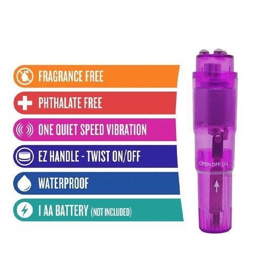 Pocket Rocket Vibrator Waterproof Mini Full Body Massager