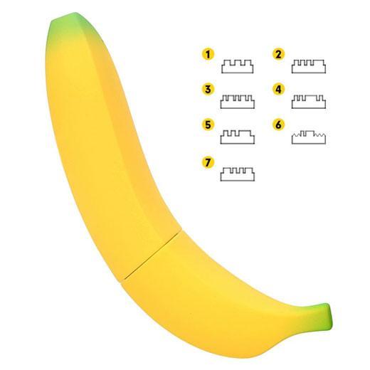 7 Speed Banana Vibrator Realistic Dildo