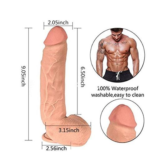9 Inch Silicone Bendable Penis with Strong Suction Cup