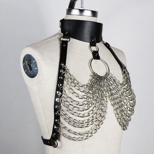 BDSM Garter Erotic Chain Restraints Suspenders