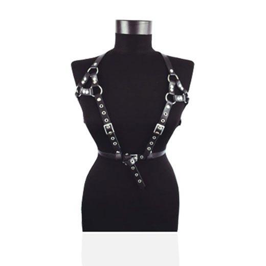Leather Belts Bondage Cage Punk Sculpture Harness