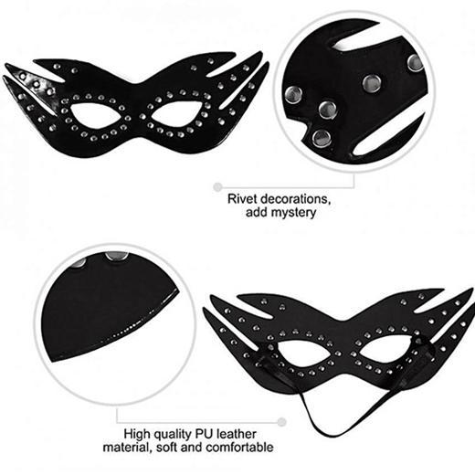 BDSM Leather Cat Eye Mask - Cupid Baba