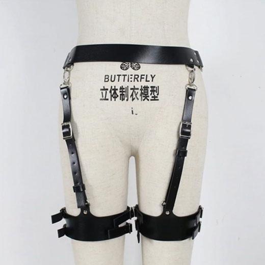 Waist Adjustable Belt Gothic Cincher Caged Garter for Women Rave Outfits