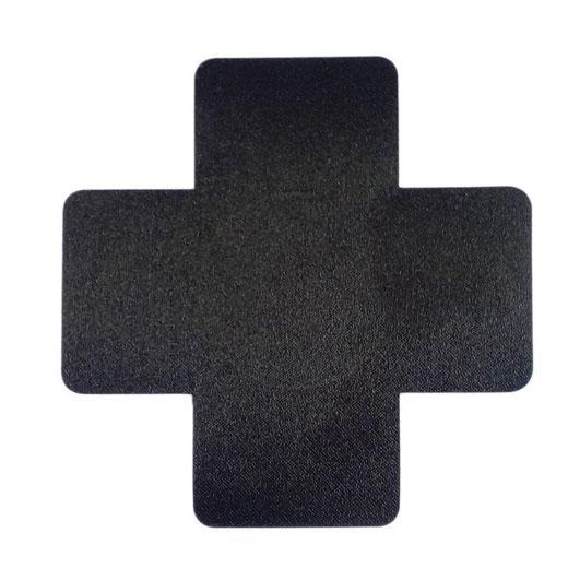 Black Cross leather Nipple Covers