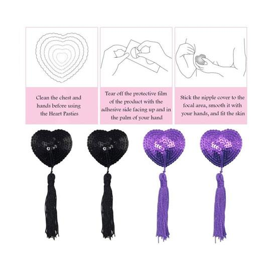 Breast Bra Tassel Nipple Cover Pasties Petal Stickers For Women