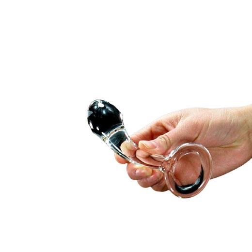 Glass Anal Plug With Ring
