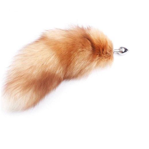 Real Gold Fox tail Anal Plug