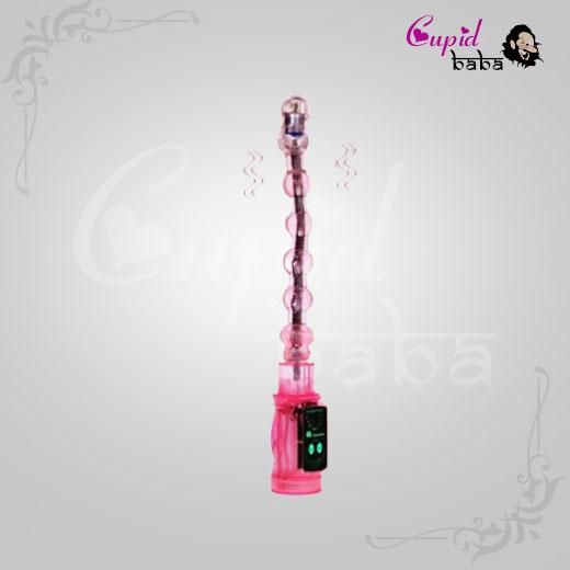 Jelly Beads Anal Plug with 6 Function Vibration