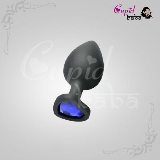 Large Heart Jewel Base Soft Silicone Plug