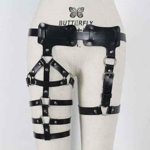 Leather Body Harness Waist Leg League Bondage