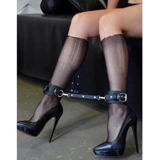 Leather Restraint Leg Spreader Ankle Cuffs