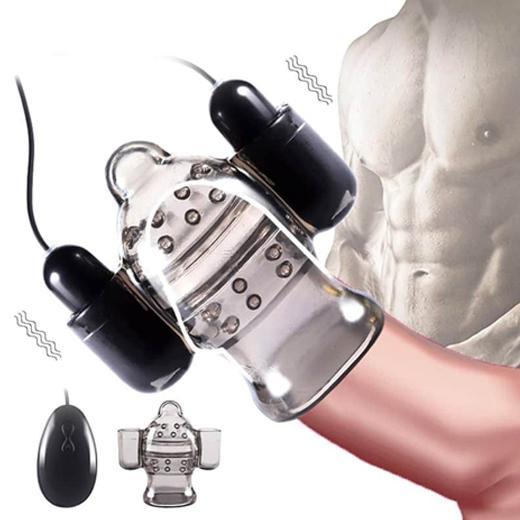 Men Delay Ejaculation Penis Double Vibrator