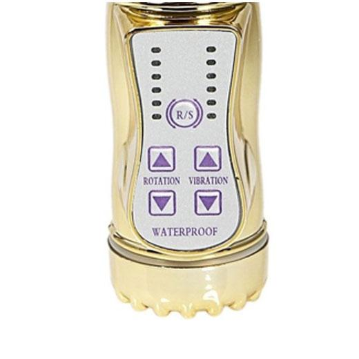 8 Speed Rotating Golden Vibrator for Female