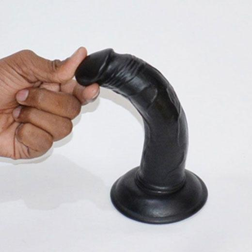 Realistic Black Suction Dildo Without Balls