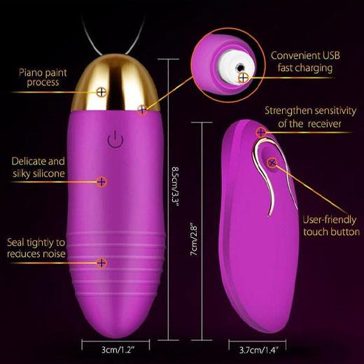 Remote jumping egg vibrator with usb charge