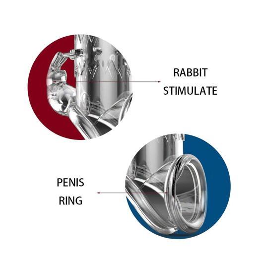 Reusable Crystal Elastic Penis Sleeve Toy