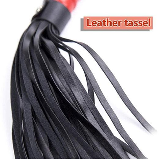 Romantic Leather Flogger Whip with Wrist Loop