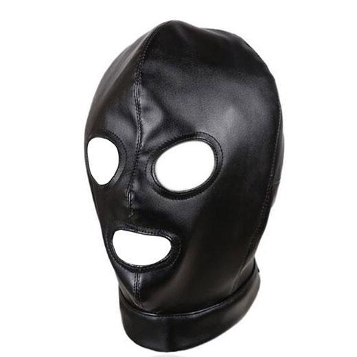 Sex Fetish Slave Hood Leather Mask.