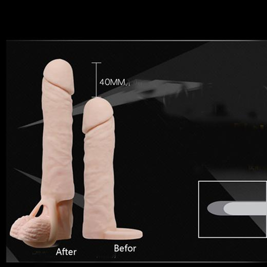Flexible Soft Penis Sleeve With Cock Ring