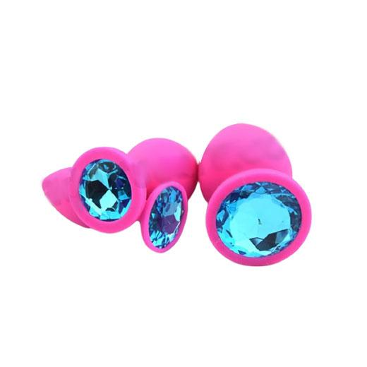 Soft Silicone Crystal Jeweled Anal Plug