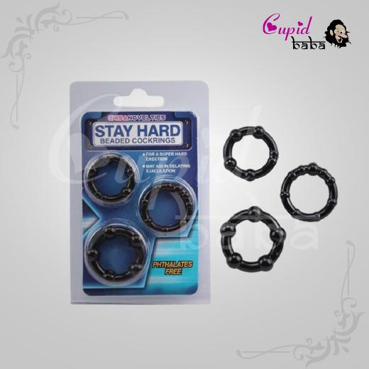 Stay Hard Beaded Delay Ejaculation Cock Ring - Cupid Baba
