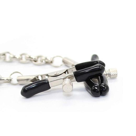 Steel Metal Chain Nipple Stimulation Clamps