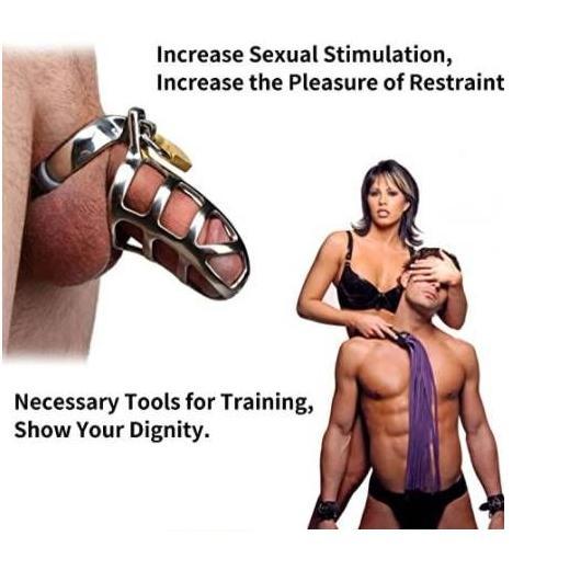 Steel Penis Chastity cage Lock