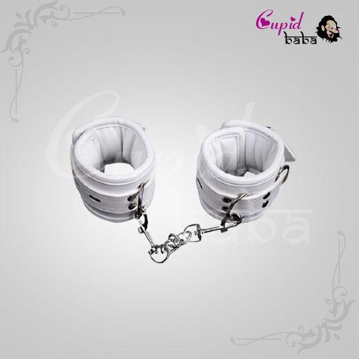 White Handcuffs Women Bondage