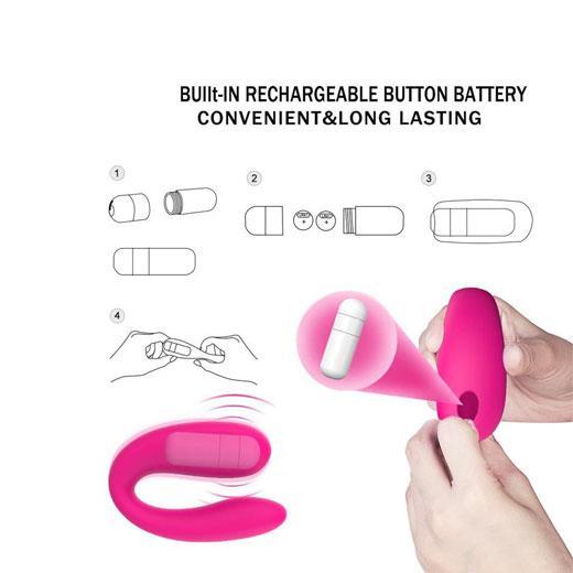 Mini Portable U-shape And G-spot Double Head Vibrator