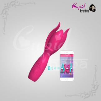 APP-Control Lotus Wand Vibrating Rechargeable Massager
