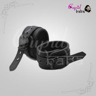 Black Leather BDSM Bondage Handcuffs