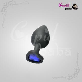 Medium Heart Jewel Shape Silicon Butt Plug
