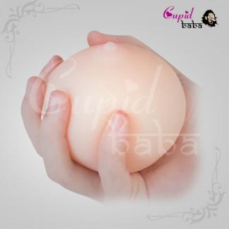 Portable Soft 3D Breast Nipple Touch Male Sex Toy