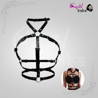 Stud Punk Goth Leather Harness Body Bondage Belt Cage